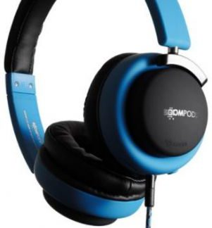 Casti Audio Boompods Hush HUSBLU, Jack 3.5mm, Microfon (Albastru/Negru)