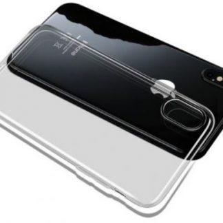 Protectie spate Mcdodo Crystal Soft Slim Jacket pentru iPhone X (Transparent/Gri)