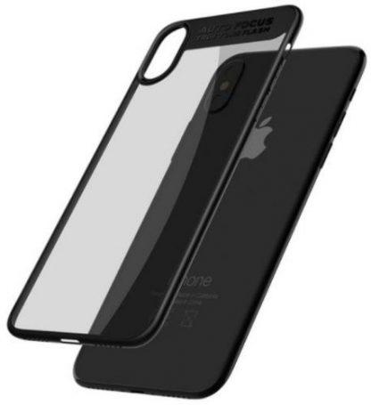 Protectie Spate Mcdodo Dual Clear Bumper pentru iPhone X (Transparent/Negru)