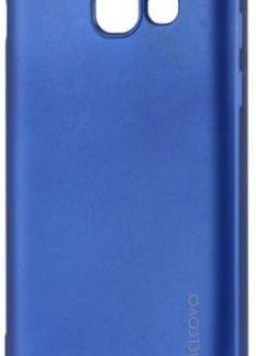 Protectie spate Meleovo Silicon Soft Slim pentru Samsung Galaxy A3 (2017) (Albastru Mat)