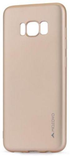 Protectie spate Meleovo Silicon Soft Slim pentru Samsung Galaxy S8 G950 (Auriu Mat)