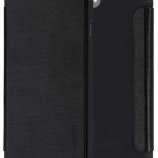 Husa Meleovo Smart Flip pentru iPhone 8 Plus (Negru)