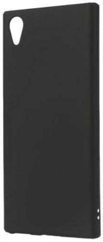 Protectie Spate Lemontti Hard Rubber Slim LEMHRXPXA1PN pentru Sony Xperia XA1 Plus (Negru)