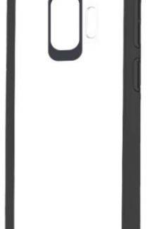 Protectie Spate Devia Pure Style pentru Samsung Galaxy S9 (Transparent/Negru)