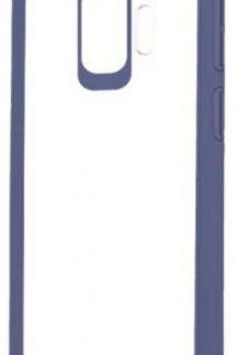 Protectie Spate Devia Pure Style pentru Samsung Galaxy S9 (Transparent/Albastru)