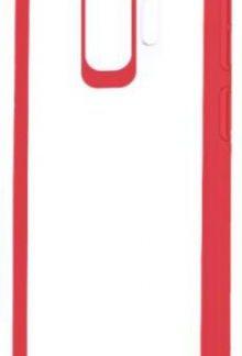 Protectie Spate Devia Pure Style pentru Samsung Galaxy S9 (Transparent/Rosu)