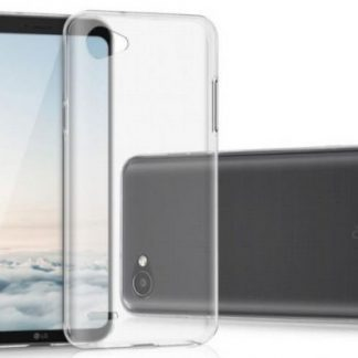Protectie Spate Lemontti Silicon Ultraslim pentru LG Q6 (Transparent)
