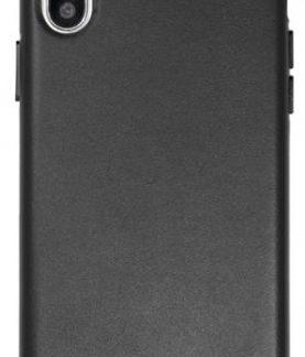 Protectie Spate Just Must Origin Leather pentru Apple iPhone X (Negru)