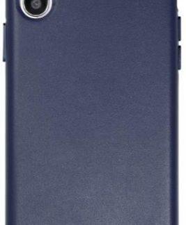 Protectie Spate Just Must Origin Leather pentru Apple iPhone X (Albastru)