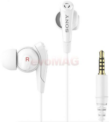 Casti Stereo Sony MDR-NC31EM, Jack 3.5mm, Microfon (Alb)