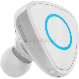 Casca Bluetooth Devia Vortex DVVRTXBTWH, Multi Point, incarcator dedicat auto (Alb)