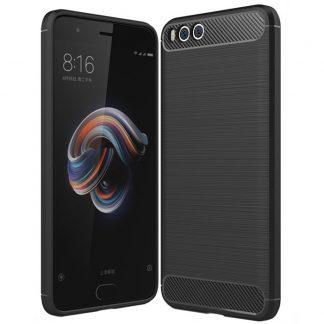 Husa Carbon Xiaomi Mi Note 3, Negru
