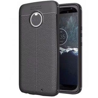 Husa de protectie Leather Motorola Moto X4, Negru