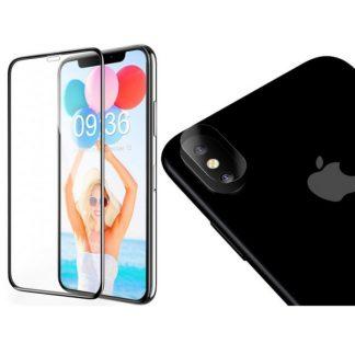 Set Folie Nano Glass Pentru Camera Si Folie Ecran Mixon Full Glue Full Cover iPhone Xs Max