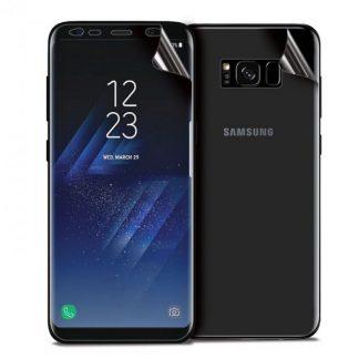 Set Folie Protectie Ecran Si Spate Mixon Pro Samsung S8 Silicon Transparenta