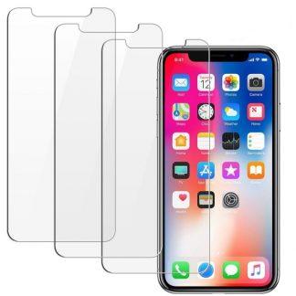 Set Mixon Pro Folie Sticla Securizata 9h iPhone X/XS 3 Bucati in Pachet Transparente